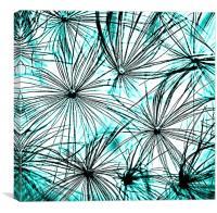 Dandelion Blue tones., Canvas Print