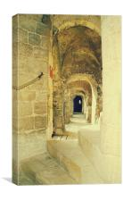 Castle Rising corridors and Walkways, Canvas Print