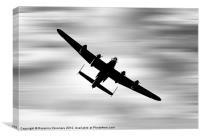 Lancaster Sillouette., Canvas Print