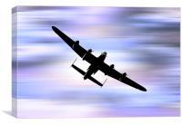 Lancaster'Bomber.., Canvas Print