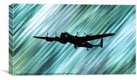 Lancaster Bomber Sillouette., Canvas Print