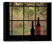 Through the window., Canvas Print
