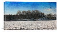 Winter Walks Back Lanes., Canvas Print