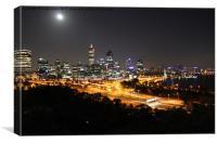 Perth City Lights at Night, Canvas Print