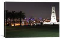 City at Night, Canvas Print