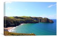 Coast line of Cornwall, lovelly beach, Canvas Print