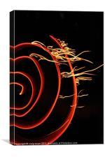 Red Swirl, Fire ribbon Art, fire, Canvas Print