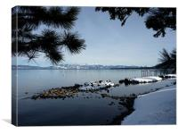 Snowy Winters Lake, Canvas Print