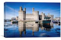Caernarfon Castle, Wales, Canvas Print
