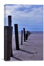 Weston-super-mare beach, Canvas Print