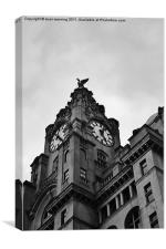 The Liver clock tower, Canvas Print