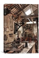 The workshop, Canvas Print