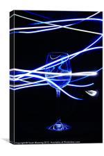 Neon Glass II, Canvas Print