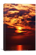 Painted sunset, Canvas Print