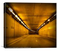 Airport tunnel, Canvas Print