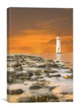 New Brighton Sunset, Canvas Print