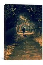 Alone in the dark, Canvas Print