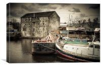 Wakefield Wharf, Canvas Print