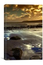 Rhos-on-sea colour, Canvas Print