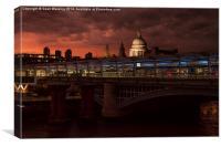 Hungerford Bridge , Canvas Print