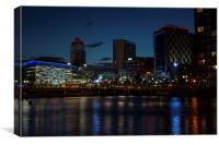 Media City Lights, Canvas Print