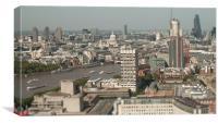 London Skyline tilt-shift, Canvas Print