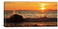 Shell island sunset, Canvas Print