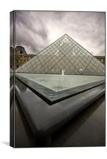 La Louvre Paris, Canvas Print
