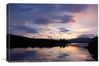 Dawn Breaks on Loch Etive, Canvas Print