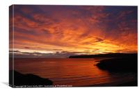 Sunrise at Durness, Canvas Print