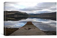 Reflections on Loch Carron, Canvas Print