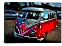Volkswagen Vedding Van!, Canvas Print