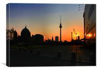 Berlin at Dawn, Canvas Print