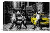Yellow Cab Jazz, Canvas Print