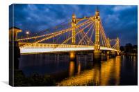 Albert Bridge, Canvas Print