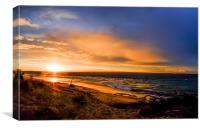 Sunset and Driftwood, Canvas Print