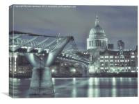 An Evening with St Paul's Cathedral, Canvas Print