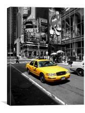 Yellow Cab Manhattan, Canvas Print