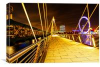 Hungerford Bridge & London Eye at Night, Canvas Print