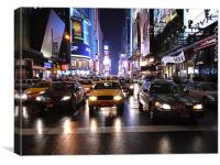 Yellow Cab and Times Square, Canvas Print