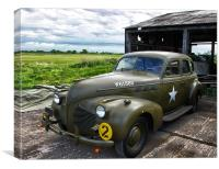 WW2 Military Staff Car, Canvas Print