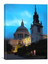 St Paul's by Twilight, Canvas Print