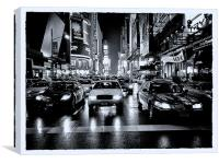 Times Square - Film Noir style, Canvas Print
