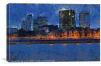 Docklands Digital Art, Canvas Print