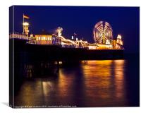 Brighton's Palace pier, Canvas Print