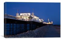 Brighton's Palace pier all Alight, Canvas Print