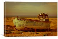 An Old Wrecked Fishing Boat 3, Canvas Print