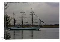 Gloria, Colombian Navy Ship 3, Canvas Print