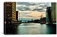 Docklands Sunset, Canvas Print