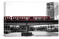 Docklands Light Railway, DLR, Canvas Print